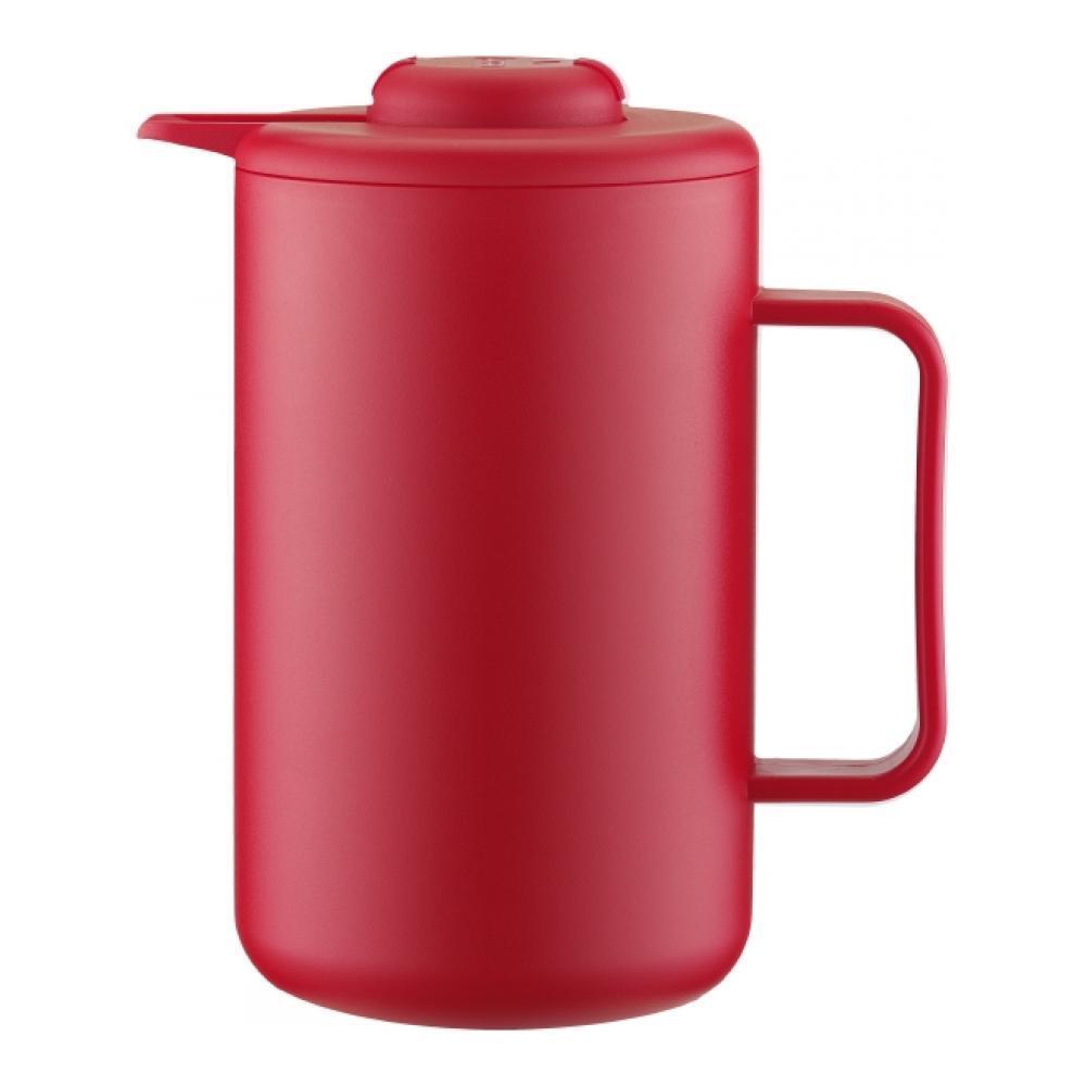 Термокувшин Bodum Bistro, цвет: красный, 1 л11568-294BТермокувшин Bodum Bistro поддерживает горячую или холодную температуру напитков на протяжении длительного времени. Корпус термокувшина изготовлен из высококачественного пластика, а внутренняя часть из нержавеющей стали. В промежутке между стенками создан вакуум - это помогает сохранять температуру содержимого внутри. Термокувшин надежно закрывается завинчивающейся крышкой, а выливающаяся жидкость будет стекать, не расплескиваясь, по специальному носику. Изделие оснащено удобной ручкой. Термокувшин Bistro займет достойное место на вашей кухне, а также станет полезным предметом в туристических походах. Высота термокувшина: 23 см. Диаметр дна: 11 см.