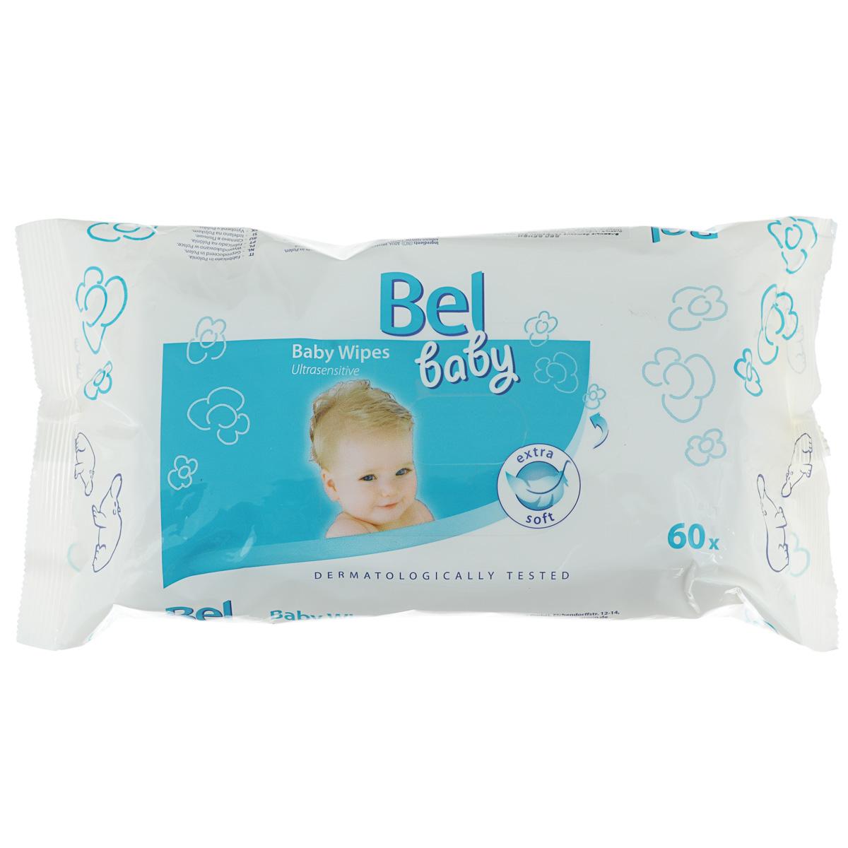 Hartmann Влажные салфетки Bel Baby, для чувствительной кожи, 60 шт9162921Влажные салфетки Bel Baby нежно ухаживают и мягко очищают чувствительную кожу ребенка. Пропитаны специальным лосьоном, который прекрасно увлажняет и защищает кожу от внешних воздействий и способствует предотвращению и заживлению раздраженной кожи. В составе лосьона натуральные масла: масло подсолнечника, льняное и оливковое. Изготовлены из нетканого материала, содержащего 30 % вискозы. Товар сертифицирован. Товар сертифицирован.