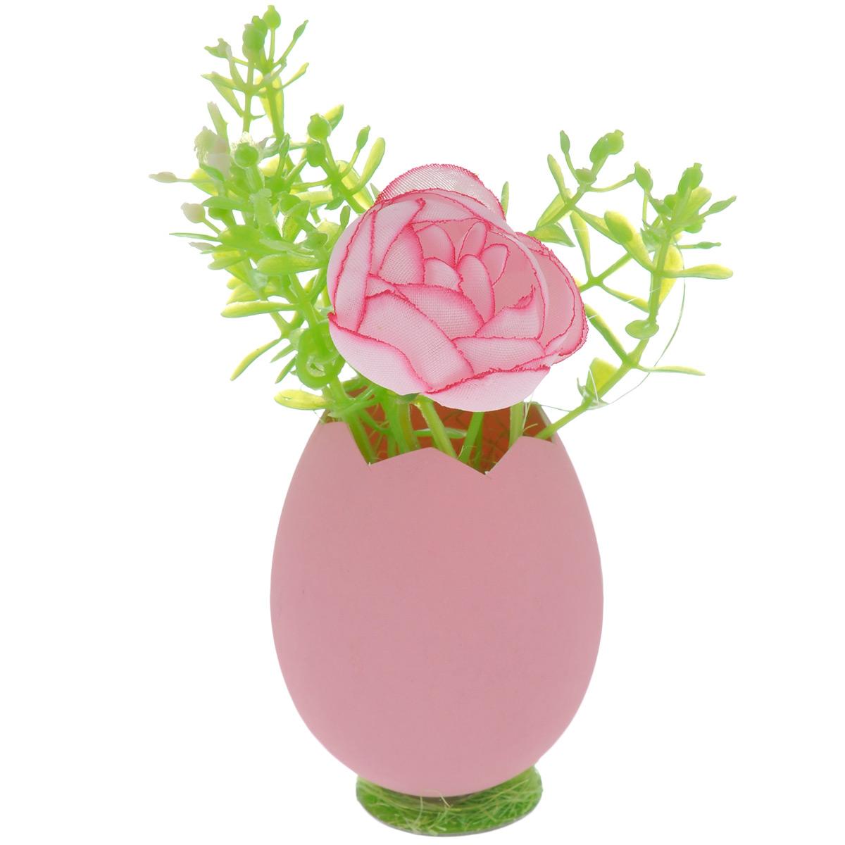 Декоративное украшение Home Queen Цветы в скорлупе, цвет: розовый, 5 х 11 см58246_1Декоративное украшение Home Queen Цветы в скорлупе выполнено из пластика и полиэстера в виде композиции из яичной скорлупы и цветов. Такое украшение прекрасно оформит интерьер дома или станет замечательным подарком для друзей и близких на Пасху. Размер: 5 см х 11 см х 5 см.