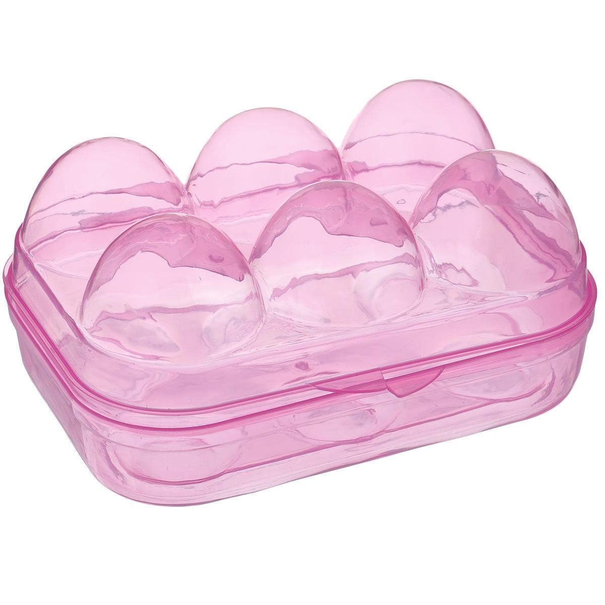 Контейнер для переноски 6 яиц Home Queen, цвет: розовый, 15 х 12 х 7 см66729_1Контейнер для переноски 6 яиц Home Queen изготовлен из высококачественного пищевого пластика. Контейнер плотно закрывается, что позволяет использовать его для переноски яиц. С ним яйца не разобьются, поэтому теперь их можно взять куда угодно - на отдых, природу и т.д.