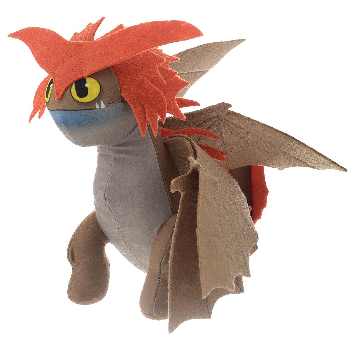Мягкая игрушка Dragons Дракон, цвет: светло-коричневый, 20 см66572св.коричневыйМягкая плюшевая игрушка Dragons Дракон понравится любому маленькому поклоннику мультфильма Как приручить дракона. Игрушка выполнена из приятного на ощупь текстильного материала в виде коричневого дракона с большими красными шипами. У игрушки большие глазки и широкие крылья. Эта забавная игрушка принесет радость и подарит своему обладателю мгновения приятных воспоминаний. Такая игрушка станет отличным подарком вашему ребенку!
