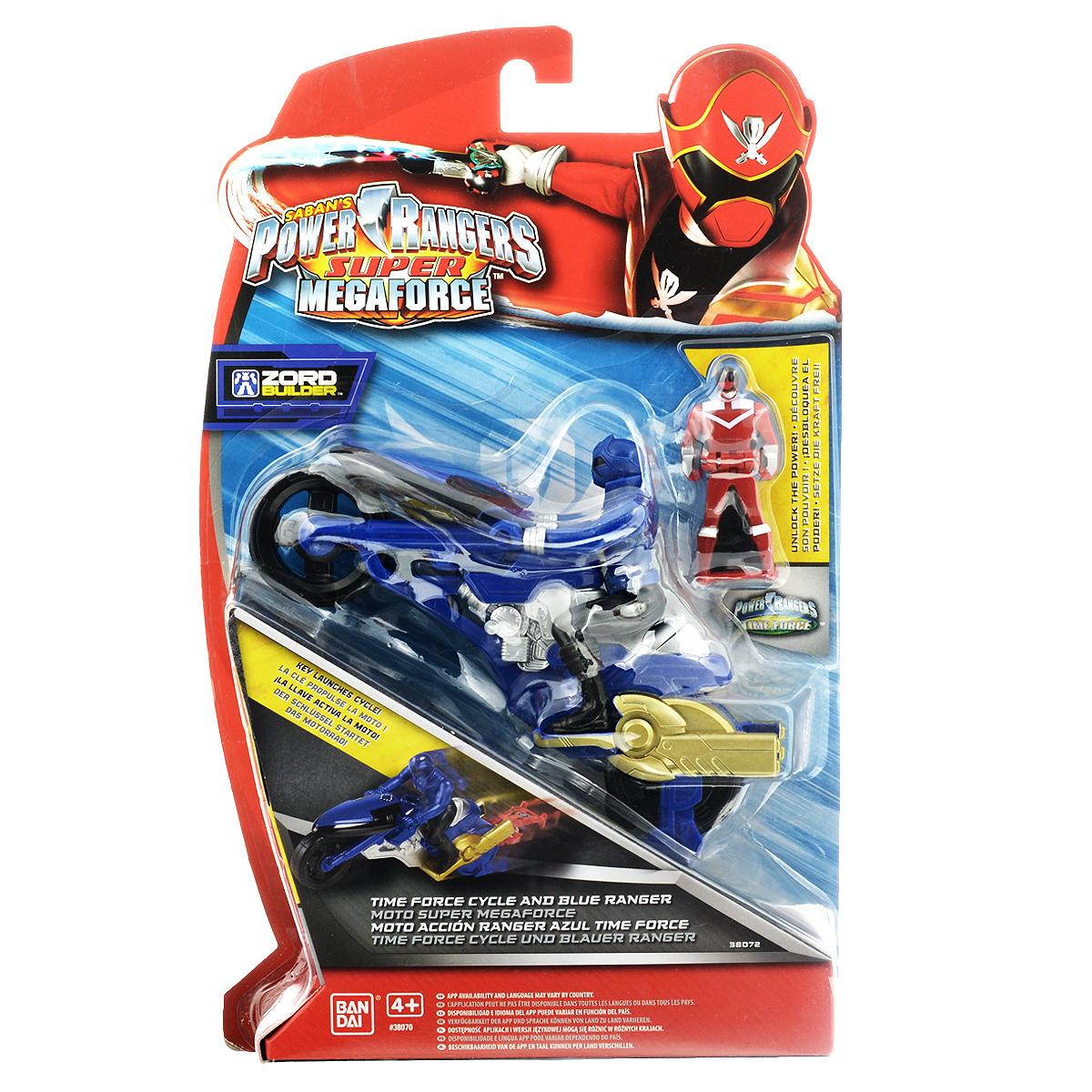 "Игрушка Power Rangers ""Мотоцикл с фигуркой"", цвет: синий"