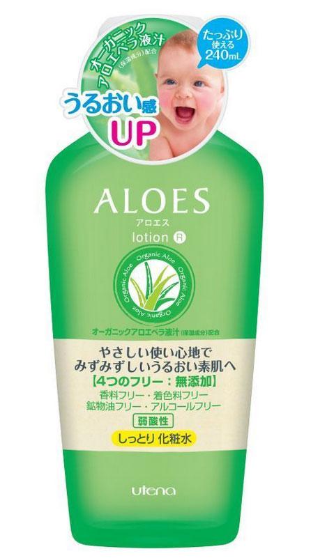 Utena Увлажняющий и освежающий лосьон Aloes для лица с экстрактом алоэ вера 240мл240322Лосьон создан на основе натурального сока алоэ вера, без применения ароматизаторов, красителей, минерального масла, спирта. Лосьон с легкой текстурой увлажняет и освежает кожу лица, оздоравливает и улучшает ее общее состояние. Удивительное действие сока алоэ - залог нежной, увлажненной и здоровой кожи. Идеально подходит для ухода за сухой и чувствительной кожей. Нежное и легкое увлажнение кожи.