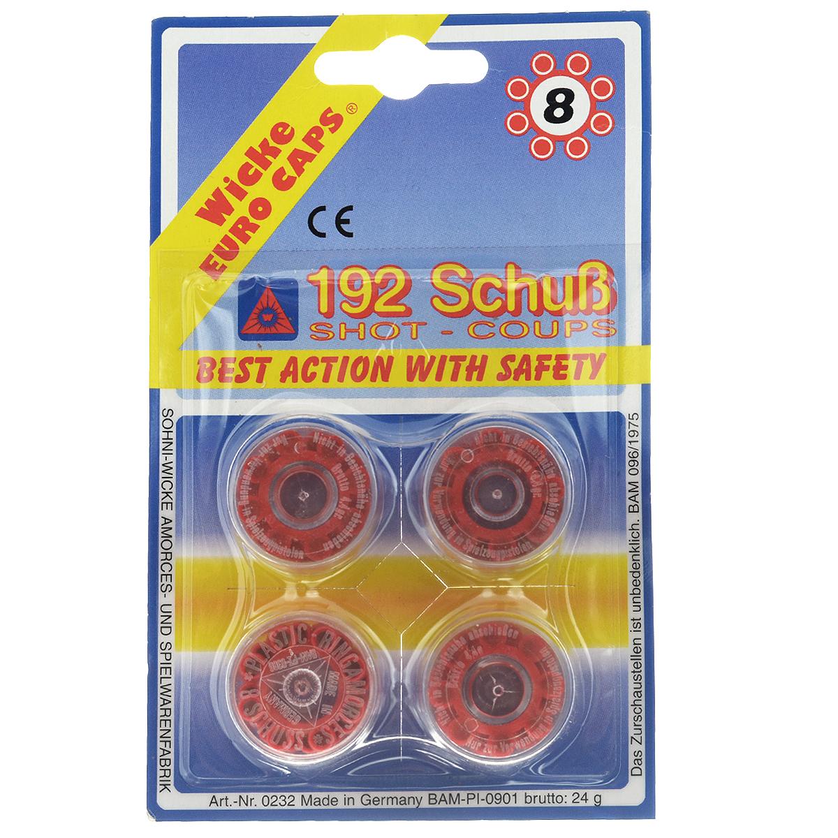 "Sohni-Wicke Пистоны ""Wicke Euro Caps"", 8-зарядные, 192 шт 0232S"
