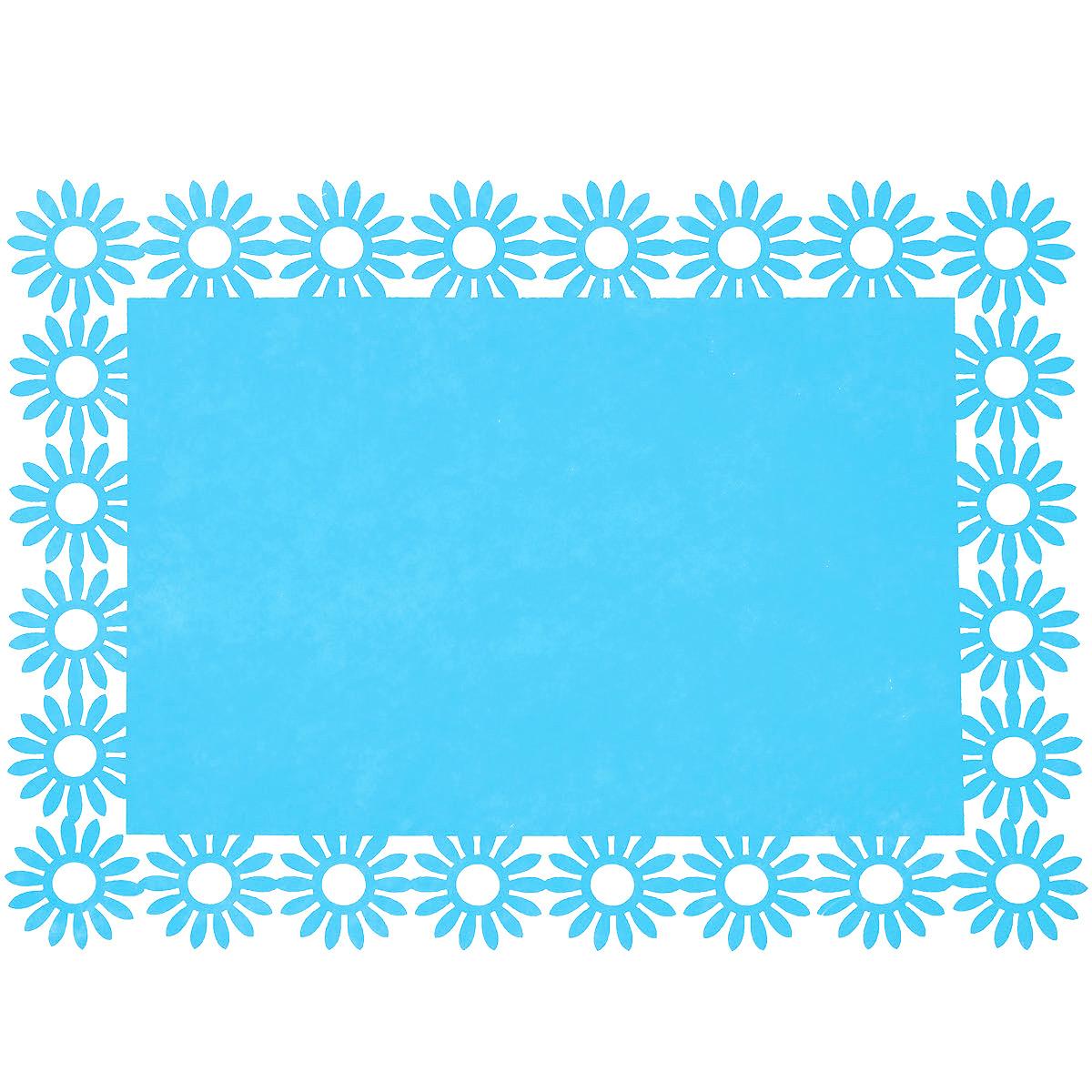 Салфетка Home Queen Веселый праздник, цвет: голубой, 30 см х 40 см х 0,2 см66843_5Прямоугольная салфетка Home Queen Веселый праздник выполнена из фетра и имеет красивую перфорацию по краям. Вы можете использовать салфетку для декорирования стола, комода, журнального столика. В любом случае она добавит в ваш дом стиля, изысканности и неповторимости и убережет мебель от царапин и потертостей. Размер салфетки: 30 см х 40 см х 0,2 см.