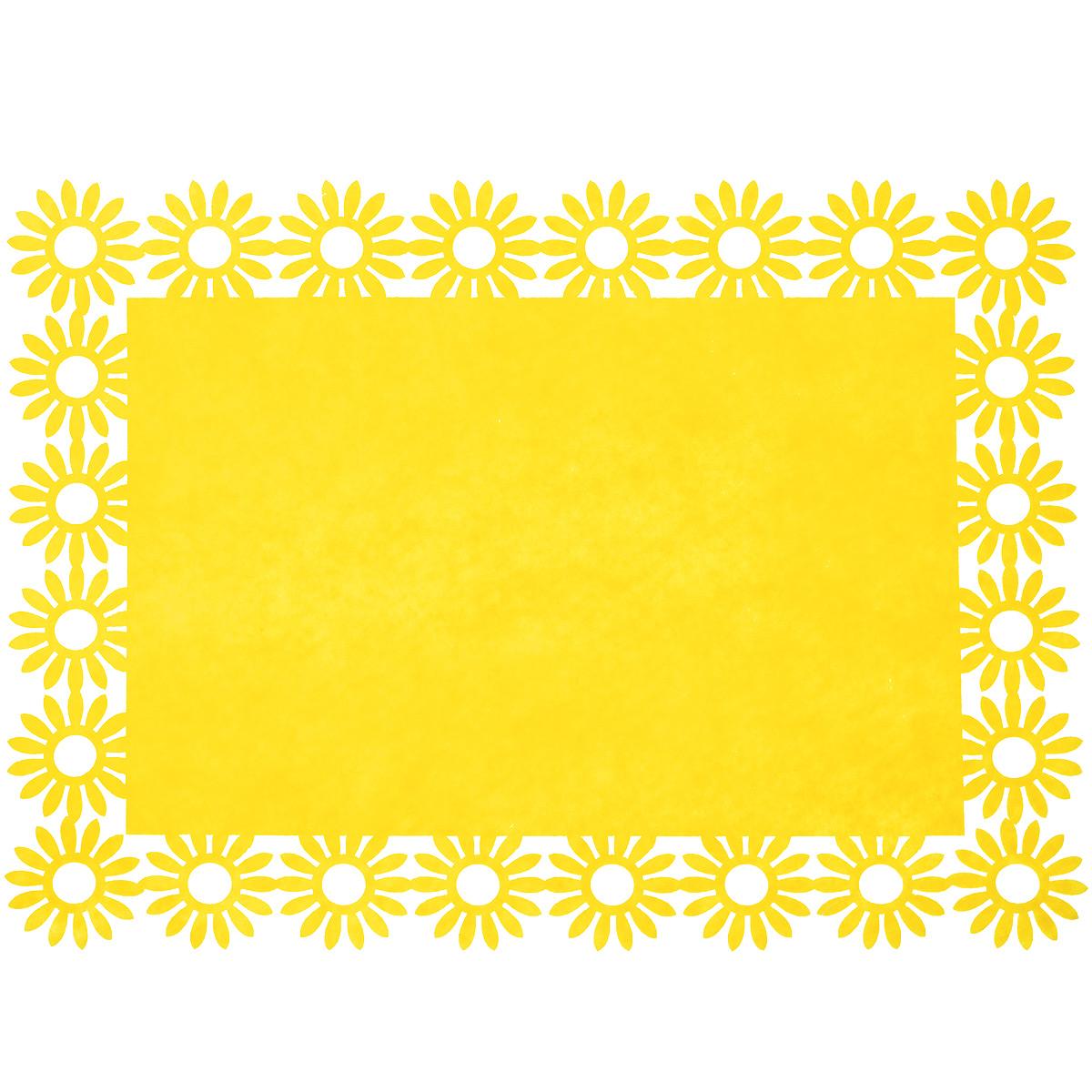 Салфетка Home Queen Веселый праздник, цвет: желтый, 30 х 40 х 0,2 см66843_3Прямоугольная салфетка Home Queen Веселый праздник выполнена из фетра и имеет красивую перфорацию по краям. Вы можете использовать салфетку для декорирования стола, комода, журнального столика. В любом случае она добавит в ваш дом стиля, изысканности и неповторимости и убережет мебель от царапин и потертостей. Размер салфетки: 30 см х 40 см х 0,2 см.