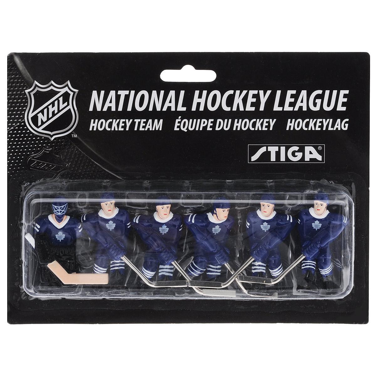 Команда игроков Stiga Toronto Maple Leafs, для настольного хоккеяHC-9090-19Команда игроков Stiga Toronto Maple Leafs включает 6 фигурок хоккеистов. Фигурки предназначены для игры в настольный хоккей. Оснащены специальными отверстиями для крепления. Команда имеет раскраску формы, аналогичную настоящей команде NHL Toronto Maple Leafs. Игроки имеют отличную детализацию и раскрашены вручную. В команде: вратарь, 2 леворуких и 3 праворуких хоккеиста. Теперь вы можете сыграть в настольный хоккей за команду Toronto Maple Leafs. Игроки предназначены для хоккея Stiga NHL Stanley Cup. Однако, несмотря на некоторые отличия, они также без проблем подойдут для Stiga Play Off и Stiga High Speed. Высота фигурки: 6 см. Количество фигурок: 6 шт.