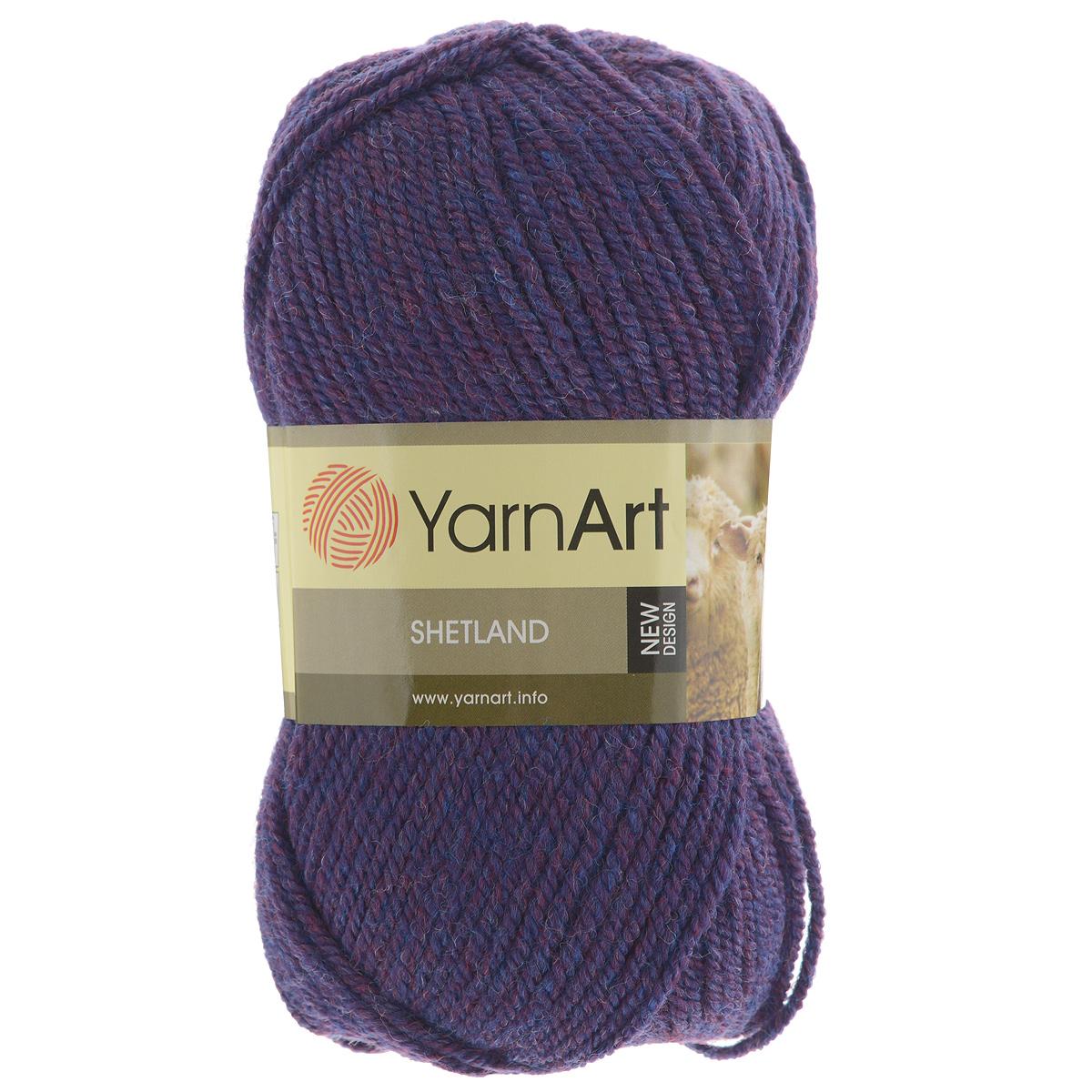 Пряжа для вязания YarnArt Shetland, цвет: фиолетовый (513), 220 м, 100 г, 5 шт372069_513Пряжа для вязания YarnArt Shetland изготовлена из шерсти и акрила. При взгляде на моток сразу видно, что вещи из этой пряжи будут выглядеть дорого. Изделия из этой пряжи не скатываются и не деформируются. Пряжа очень легка в работе, даже при роспуске полотна она не цепляется и не путается. Ниточка теплая и уютная, отлично подходит для нашей морозной зимы. Даже ажурные шапки и шарфы при всей своей тонкости будут самыми надежными защитниками от снега и сильного ветра. Очень хорошо смотрятся из этой шерсти узоры из кос и жгутов. Рекомендованные спицы 4,5 мм и крючок 5 мм. Комплектация: 5 мотков. Состав: 30% шерсть, 70% акрил.