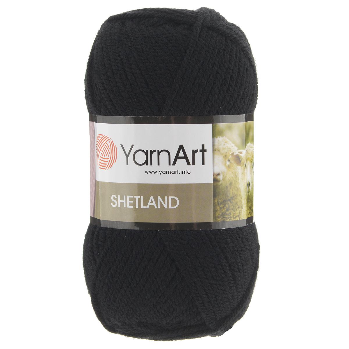 Пряжа для вязания YarnArt Shetland, цвет: черный (502), 220 м, 100 г, 5 шт372069_502Пряжа для вязания YarnArt Shetland изготовлена из шерсти и акрила. При взгляде на моток сразу видно, что вещи из этой пряжи будут выглядеть дорого. Изделия из этой пряжи не скатываются и не деформируются. Пряжа очень легка в работе, даже при роспуске полотна она не цепляется и не путается. Ниточка теплая и уютная, отлично подходит для нашей морозной зимы. Даже ажурные шапки и шарфы при всей своей тонкости будут самыми надежными защитниками от снега и сильного ветра. Очень хорошо смотрятся из этой шерсти узоры из кос и жгутов. Рекомендованные спицы 4,5 мм и крючок 5 мм. Комплектация: 5 мотков. Состав: 30% шерсть, 70% акрил.