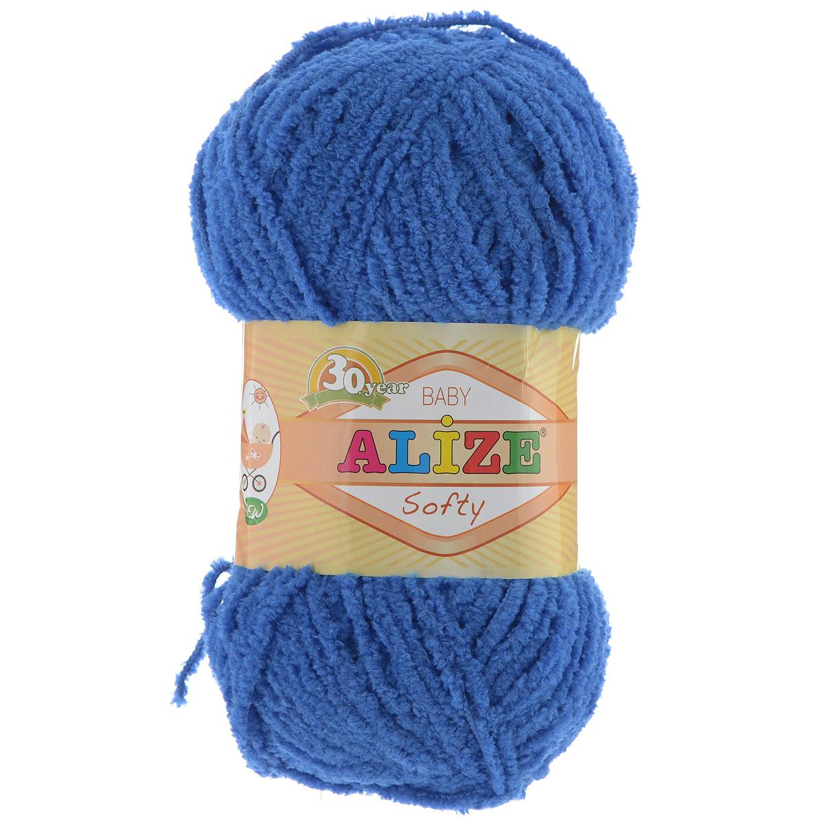 Пряжа для вязания Alize Softy, цвет: синий (141), 115 м, 50 г, 5 шт694530_141Пряжа для вязания Alize Softy изготовлена из микрополиэстера. Фантазийная плюшевая пряжа для ручного вязания прекрасно подойдет для детской одежды. Ниточка мягкая и приятная на ощупь. Подходит для вязания спицами и крючком. Рекомендованные спицы 3-5 мм и крючок для вязания 2-4 мм. Комплектация: 5 мотков.