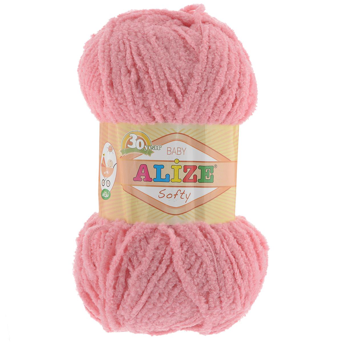 Пряжа для вязания Alize Softy, цвет: кораловый (265), 115 м, 50 г, 5 шт694530_265Пряжа для вязания Alize Softy изготовлена из микрополиэстера. Фантазийная плюшевая пряжа для ручного вязания прекрасно подойдет для детской одежды. Ниточка мягкая и приятная на ощупь. Подходит для вязания спицами и крючком. Рекомендованные спицы 3-5 мм и крючок для вязания 2-4 мм. Комплектация: 5 мотков.