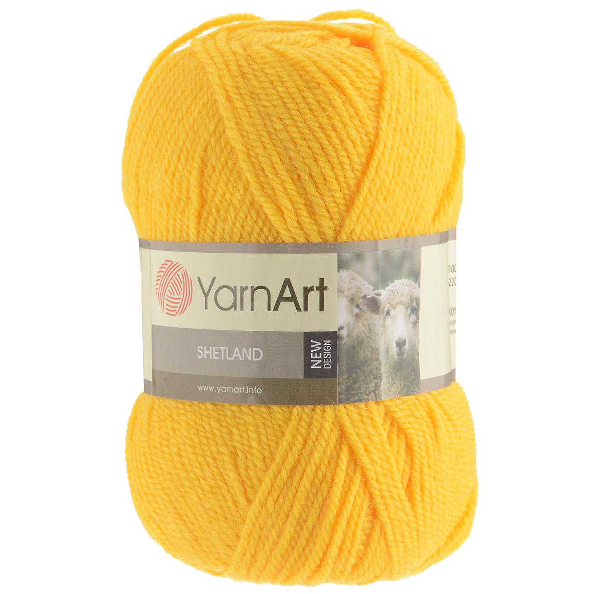 Пряжа для вязания YarnArt Shetland, цвет: желтый (506), 220 м, 100 г, 5 шт372069_506Пряжа для вязания YarnArt Shetland изготовлена из шерсти и акрила. При взгляде на моток сразу видно, что вещи из этой пряжи будут выглядеть дорого. Изделия из этой пряжи не скатываются и не деформируются. Пряжа очень легка в работе, даже при роспуске полотна она не цепляется и не путается. Ниточка теплая и уютная, отлично подходит для нашей морозной зимы. Даже ажурные шапки и шарфы при всей своей тонкости будут самыми надежными защитниками от снега и сильного ветра. Очень хорошо смотрятся из этой шерсти узоры из кос и жгутов. Рекомендованные спицы 4,5 мм и крючок 5 мм. Комплектация: 5 мотков. Состав: 30% шерсть, 70% акрил.
