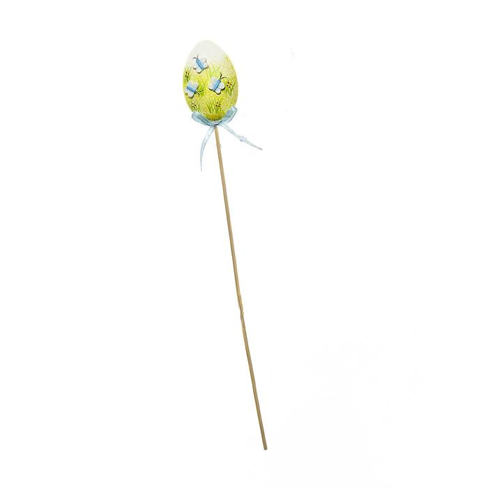 Декоративное пасхальное украшение на ножке Home Queen Бабочки, цвет: синий, высота 32 см64177_2Украшение пасхальное Home Queen Бабочки изготовлено из высококачественного пластика и предназначено для украшения праздничного стола. Украшение выполнено в виде яйца на деревянной шпажке и украшено бабочками. Такое украшение прекрасно дополнит подарок для друзей и близких на Пасху. Высота: 32 см. Размер фигурки: 4,5 см х 2,5 см х 6 см.