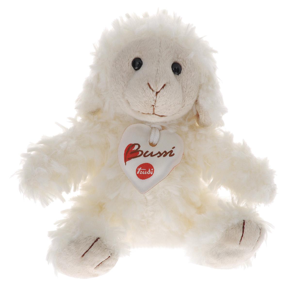 Trudi Мягкая игрушка Овечка 18 см13677Очаровательная мягкая игрушка Trudi Овечка выполнена в виде милой овечки. Игрушка изготовлена из высококачественного текстильного материала. Пластиковые гранулы, использованные при ее набивке, способствуют развитию мелкой моторики рук ребенка. Игрушка невероятно мягкая и приятная на ощупь, благодаря чему вам не захочется выпускать ее из рук. Глазки овечки изготовлены из пластика. На шее у овечки - текстильное сердечко на шнурке. Небольшой размер позволит малышу всюду брать ее с собой - на прогулку, в детский сад или в поездку. Игрушка не может стоять самостоятельно. Удивительно мягкая игрушка принесет радость и подарит своему обладателю мгновения нежных объятий и приятных воспоминаний. Великолепное качество исполнения делают эту игрушку чудесным подарком к любому празднику. Трогательная и симпатичная, она непременно вызовет улыбку у детей и взрослых.