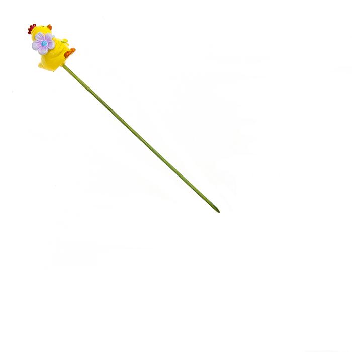 Декоративное пасхальное украшение на ножке Home Queen Птенчик с цветком, цвет: желтый, синий, высота 21,5 см66753_1Украшение пасхальное Home Queen Птенчик изготовлено из полирезины и предназначено для украшения праздничного стола. Украшение выполнено в виде птенца с цветком на деревянной шпажке. Такое украшение прекрасно дополнит подарок для друзей и близких на Пасху. Высота: 21,5 см. Размер декоративной фигурки: 2 см х 2 см х 3 см.