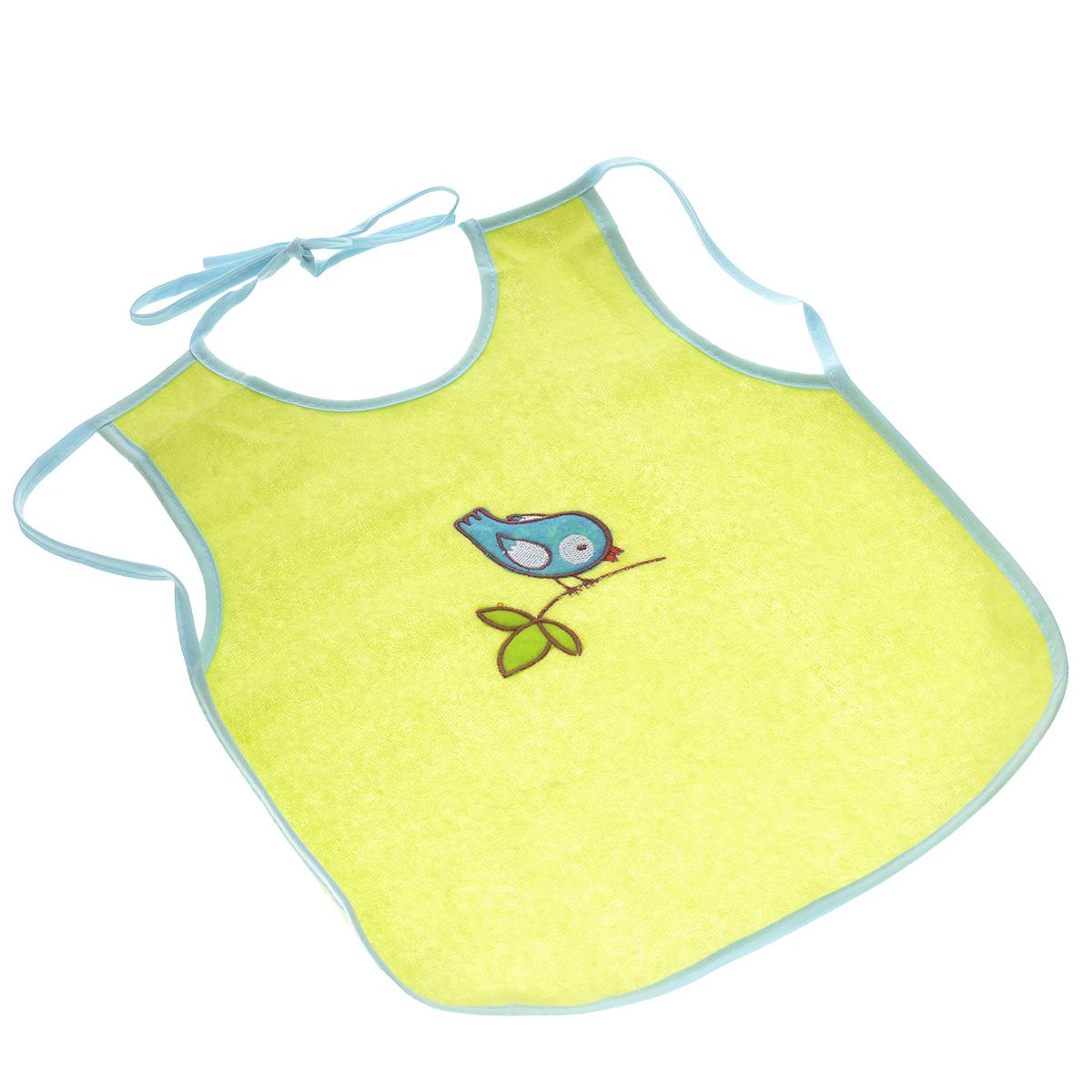Слюнявчик-фартук Мир детства, цвет: салатовый15012