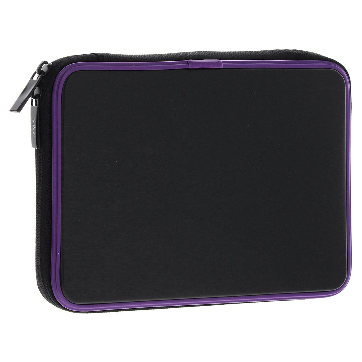 Чехол-обложка Snopake Gadget Guard для планшета iPad mini, цвет: черный, фиолетовыйK15711Чехол-обложка Snopake Gadget Guard предназначен специально для планшета iPad mini. Чехол выполнен из водонепроницаемого пропилена и имеет мягкое внутреннее покрытие. Чехол идеально подходит к любым моделям благодаря эластичным боковым панелям. Закрывается на застежку-молнию с двумя бегунками. Предусмотрена угловая фиксация. Чехол защитит планшет от механических повреждений, предотвратит попадание пыли и грязи. Практичен в использовании и имеет стильный дизайн.