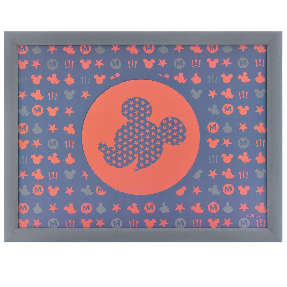 Столик-поднос Disney Микки, с подушкой, цвет: синий, красный, 44 см х 34 см х 8 см61244синийСтолик-поднос Disney Микки удобно помещается на коленях. Его можно использовать для рисования, работы с ноутбуком или чтобы перекусить. Столик изготовлен из дерева и имеет мягкое основание в виде подушки, наполненной крупными шариками пенопласта. Яркий дизайн с изображением Микки Мауса обязательно понравится вашему ребенку.