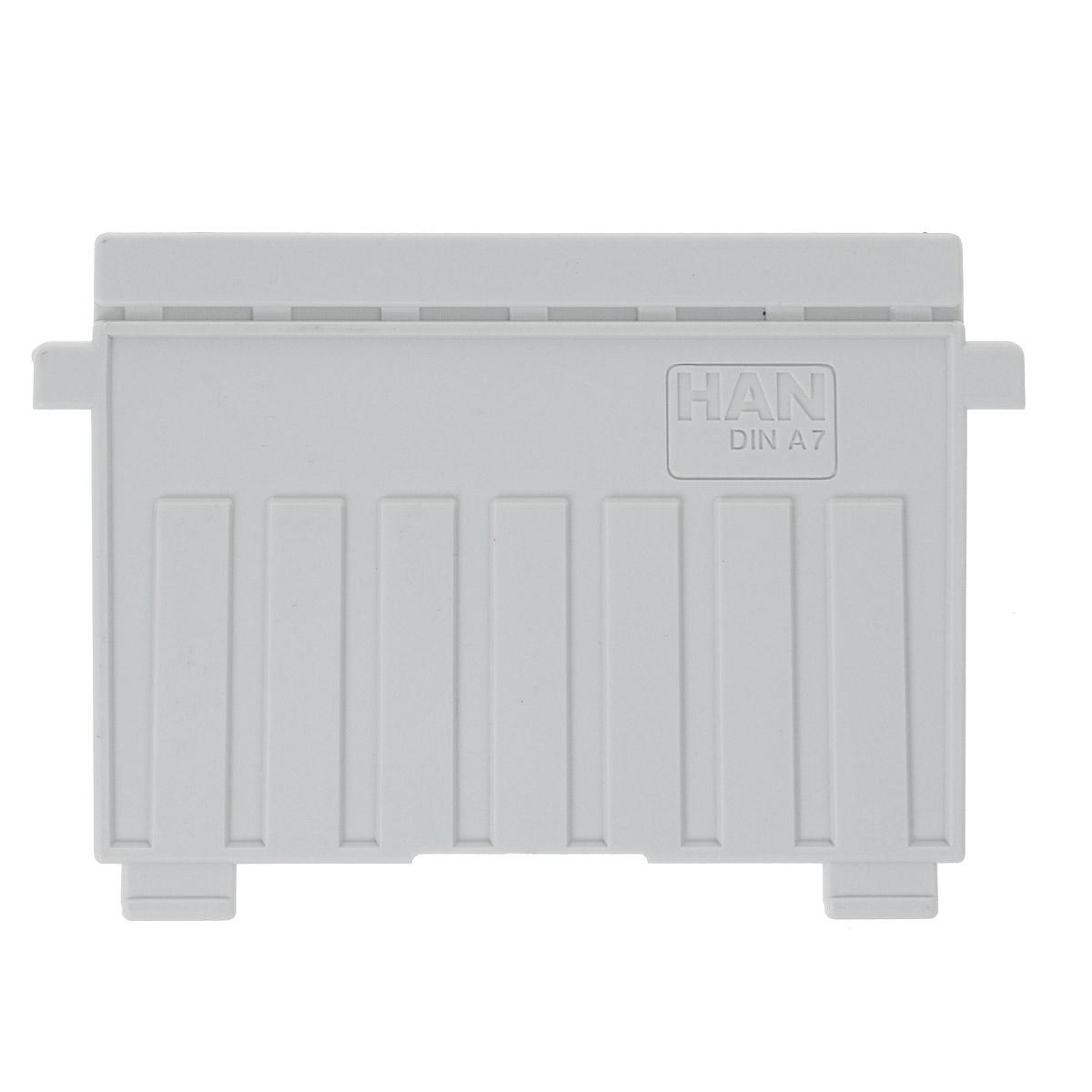 Разделитель для горизонтальной картотеки Han, цвет: серый. Формат А7HA9027/11Разделитель для картотеки Han изготовлен из пластика серого цвета. Предназначен для горизонтальных картотек HAN. Имеется специальное поле для установки индексного окна (сверху).