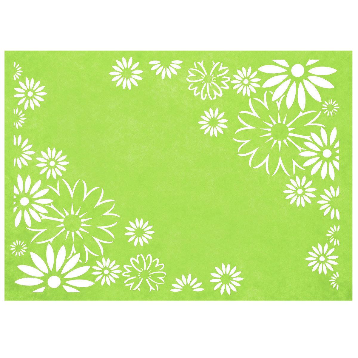 Салфетка Home Queen Лучезарность, цвет: зеленый, 30 х 40 х 0,2 см66844_2Прямоугольная салфетка Home Queen Лучезарность выполнена из фетра и оснащена красивой перфорацией в виде цветов. Вы можете использовать салфетку для декорирования стола, комода, журнального столика. В любом случае она добавит в ваш дом стиля, изысканности и неповторимости и убережет мебель от царапин и потертостей. Размер салфетки: 30 см х 40 см х 0,2 см.