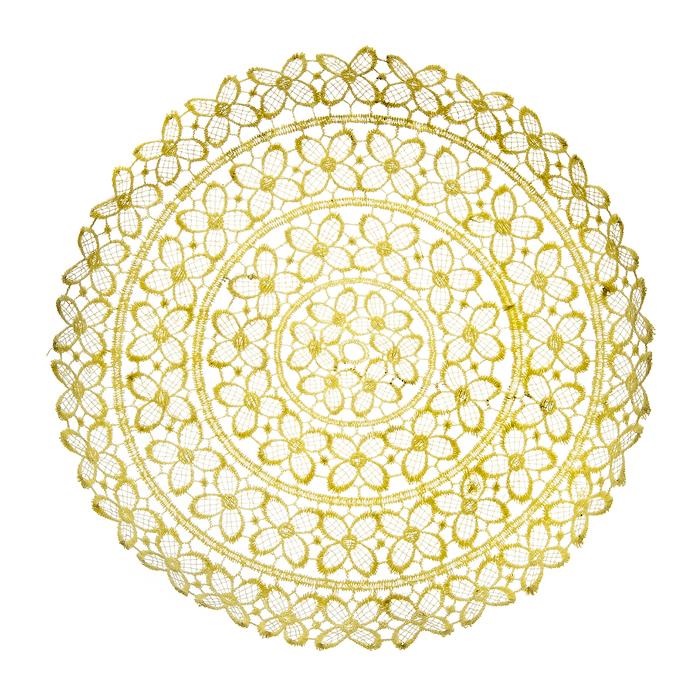 Тарелка декоративная Home Queen Клевер, цвет: кремовый, диаметр 25 см64291Тарелка Home Queen Клевер предназначена для украшения интерьера и сервировки стола. Изделие выполнено из полиэстера с красивым плетением в виде цветочных узоров, имеет жесткую форму. Такая оригинальная тарелка станет ярким украшением стола. Идеальный вариант для хранения пасхальных яиц, хлеба или конфет. Диаметр тарелки: 25 см. Высота тарелки: 3 см.