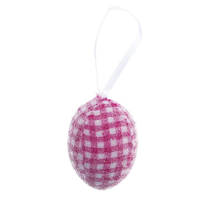 Декоративное подвесное украшение Home Queen Яйцо. Клетка, цвет: розовый. 60783_660783_6Подвесное украшение Home Queen Яйцо. Клетка, выполненное в форме яйца, изготовлено из пластика и декорировано блестками. Изделие оснащено текстильной петелькой для подвешивания. Такое украшение прекрасно оформит интерьер дома или станет замечательным подарком для друзей и близких на Пасху. Размер яйца: 4 см х 4 см х 6 см.