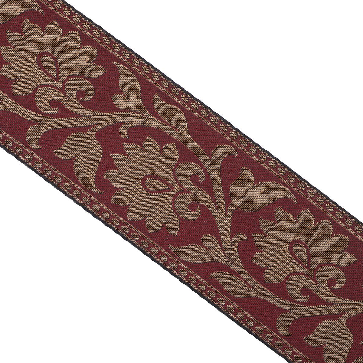 Тесьма декоративная Астра, цвет: бордовый, ширина 6 см, длина 9 м. 77034607703460_т.золото/26Декоративная тесьма Астра выполнена из текстиля и оформлена оригинальным жаккардовым орнаментом. Такая тесьма идеально подойдет для оформления различных творческих работ таких, как скрапбукинг, аппликация, декор коробок и открыток и многое другое. Тесьма наивысшего качества и практична в использовании. Она станет незаменимым элементом в создании рукотворного шедевра. Ширина: 6 см. Длина: 9 м.