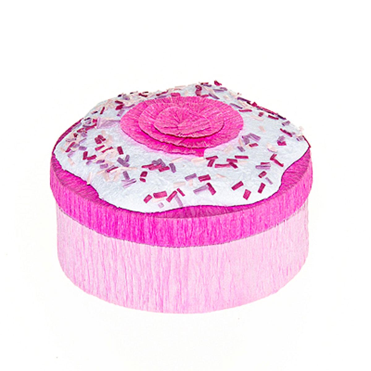 Шкатулка декоративная Home Queen Кулич, цвет: малиновый, 9 см х 4,5 см64310_2Круглая шкатулка Home Queen Кулич изготовлена из бумаги. Крышка изделия украшена красивой аппликацией в виде цветка. Изящная шкатулка прекрасно подойдет для упаковки пасхального подарка для детей и взрослых, а также красиво украсит интерьер комнаты. Размер: 9 см х 9 см х 4,5 см.