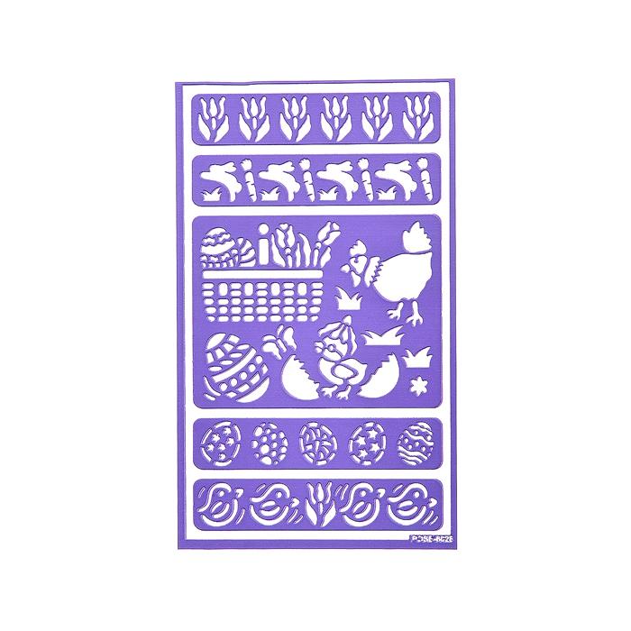 "Трафарет для декорирования яиц Home Queen ""Пасха"", 9 х 15 см"
