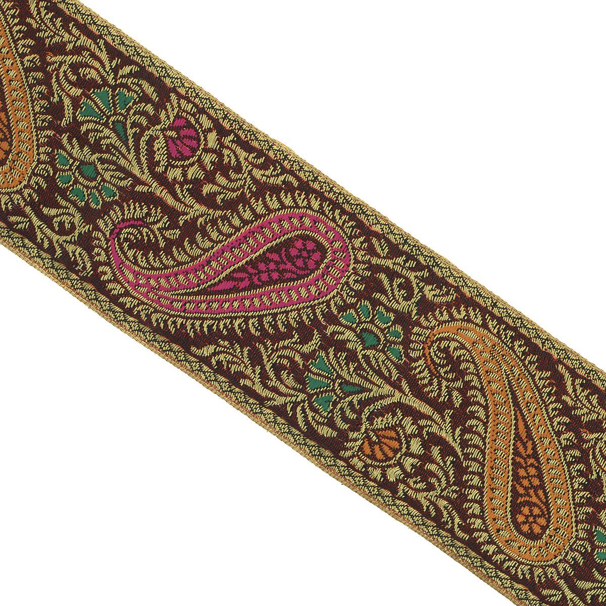 Тесьма декоративная Астра, цвет: розовый, желтый (С24), ширина 6 см, длина 9 м. 77034657703465_C24Декоративная тесьма Астра выполнена из текстиля и оформлена оригинальным жаккардовым орнаментом. Такая тесьма идеально подойдет для оформления различных творческих работ таких, как скрапбукинг, аппликация, декор коробок и открыток и многое другое. Тесьма наивысшего качества и практична в использовании. Она станет незаменимым элементом в создании рукотворного шедевра. Ширина: 6 см. Длина: 9 м.