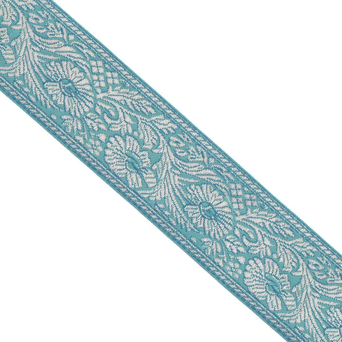 Тесьма декоративная Астра, цвет: зеленый (93), ширина 5 см, длина 16,5 м. 77034477703447_93Декоративная тесьма Астра выполнена из текстиля и оформлена оригинальным жаккардовым орнаментом. Такая тесьма идеально подойдет для оформления различных творческих работ таких, как скрапбукинг, аппликация, декор коробок и открыток и многое другое. Тесьма наивысшего качества и практична в использовании. Она станет незаменимым элементом в создании рукотворного шедевра. Ширина: 5 см. Длина: 16,5 м.