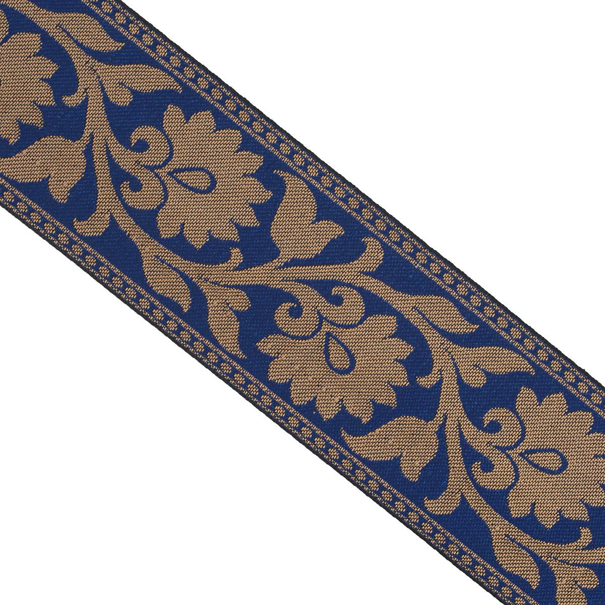 Тесьма декоративная Астра, цвет: синий, ширина 6 см, длина 9 м. 77034607703460_т.золото/53Декоративная тесьма Астра выполнена из текстиля и оформлена оригинальным жаккардовым орнаментом. Такая тесьма идеально подойдет для оформления различных творческих работ таких, как скрапбукинг, аппликация, декор коробок и открыток и многое другое. Тесьма наивысшего качества и практична в использовании. Она станет незаменимым элементом в создании рукотворного шедевра. Ширина: 6 см. Длина: 9 м.