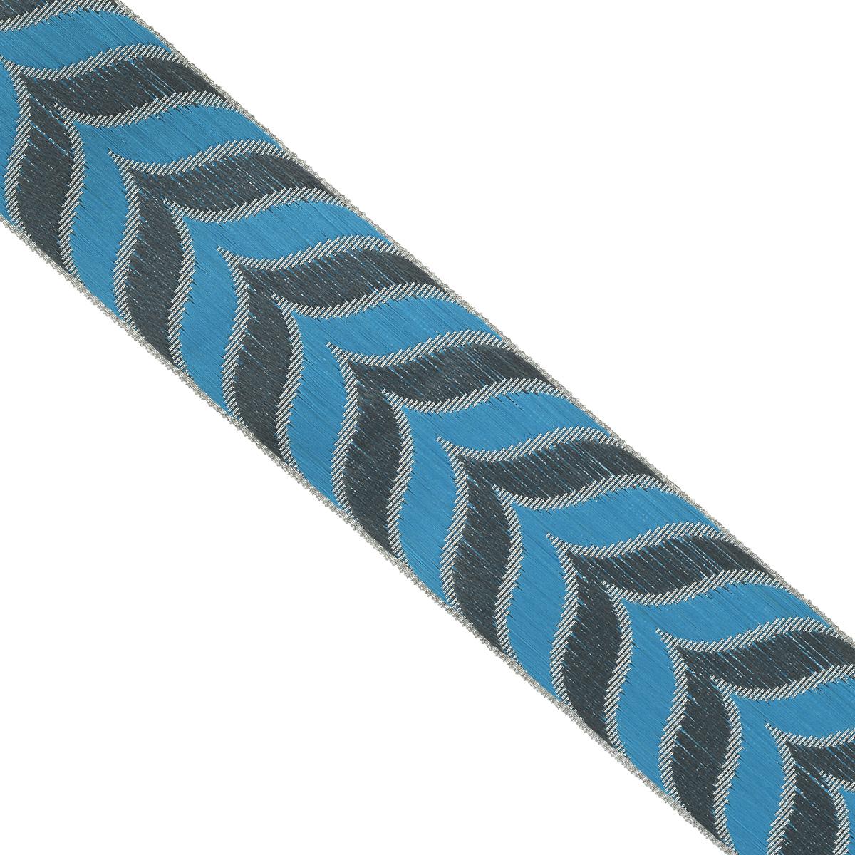 Тесьма декоративная Астра, цвет: голубой, ширина 4 см, длина 9 м. 77034597703459_серебро/35/72Декоративная тесьма Астра выполнена из текстиля и оформлена оригинальным жаккардовым орнаментом. Такая тесьма идеально подойдет для оформления различных творческих работ таких, как скрапбукинг, аппликация, декор коробок и открыток и многое другое. Тесьма наивысшего качества и практична в использовании. Она станет незаменимым элементом в создании рукотворного шедевра. Ширина: 4 см. Длина: 9 м.