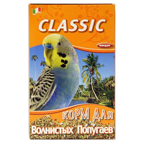 Корм Fiory Classic для волнистых попугаев, 400 г8023Корм Fiory Classic - классическая смесь для волнистых попугаев. Корм упакован в вакуум. Готов к употреблению. Состав: желтое просо, красное просо, овес лущеный, белое просо, просо, лен, сафлор канареечный, семена канареечника, пекарные продукты. Товар сертифицирован.