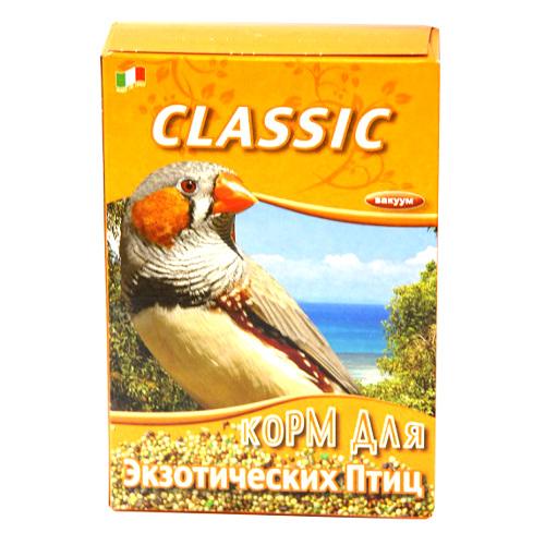 Корм Fiory Classic для экзотических птиц, 400 г8013Корм Fiory Classic - классическая смесь для экзотических птиц. Корм упакован в вакуум. Готов к употреблению. Состав: просо, красное просо, желтое просо, белое просо, двукисточник тростниковый, лен, пекарные продукты. Товар сертифицирован.
