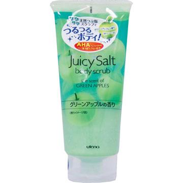 Utena Скраб Juicy Salt для тела на основе соли с ароматом зеленых яблок 300гр393318Скраб для тела с ароматом зелёных яблок делает кожу светлой, гладкой и идеально чистой. Натуральные гранулы соли и специальный компонент (альфагидроксикислота), содержащиеся в данном скрабе, устраняют старые ороговевшие клетки кожи, очищают поры и убирают излишний кожный жир. Особые вещества скраба поддерживают кожу в увлажненном состоянии даже после приема ванны.