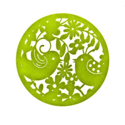 Салфетка Птицы. Круг, диаметр 30 см, фетр. 64495, зеленый64495_2Салфетка Птицы. Круг, диаметр 30 см, фетр. 64495, зеленый