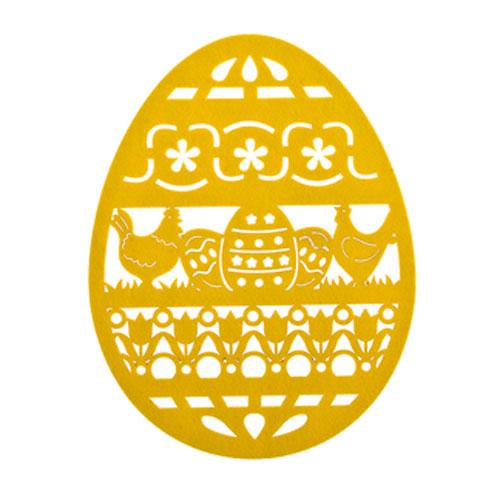 Салфетка Home Queen Веселый праздник, цвет: желтый, 25 х 33 х 0,2 см66842_1Салфетка Home Queen Веселый праздник изготовлена из фетра, выполнена в форме яйца и имеет красивую перфорацию. Вы можете использовать салфетку для декорирования стола, комода, журнального столика. В любом случае она добавит в ваш дом стиля, изысканности и неповторимости и убережет мебель от царапин и потертостей. Размер салфетки: 25 см х 33 см х 0,2 см.