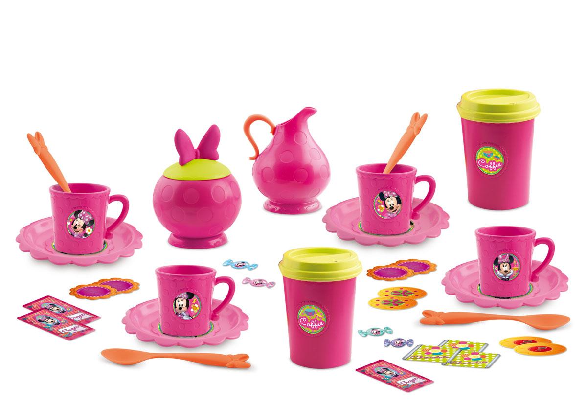 IMC Toys Игрушечный кофейный набор Minnie Mouse181052Игрушечный кофейный набор IMC Toys Minnie Mouse - это комплект кухонных приборов, который позволит малышке побыть в роли настоящей хозяйки. С его помощью девочка сможет устроить чаепитие для своих кукол и подружек. Набор из 25 предметов и рассчитан на 4 персоны. Посуда изготовлена из высококачественного, прочного и безопасного материала, оформлена в стиле Минни Маус. Этот набор для сюжетно-ролевой игры поможет девочкам развивать воображение и навыки общения, обмениваться знаниями и осваивать правила этикета.
