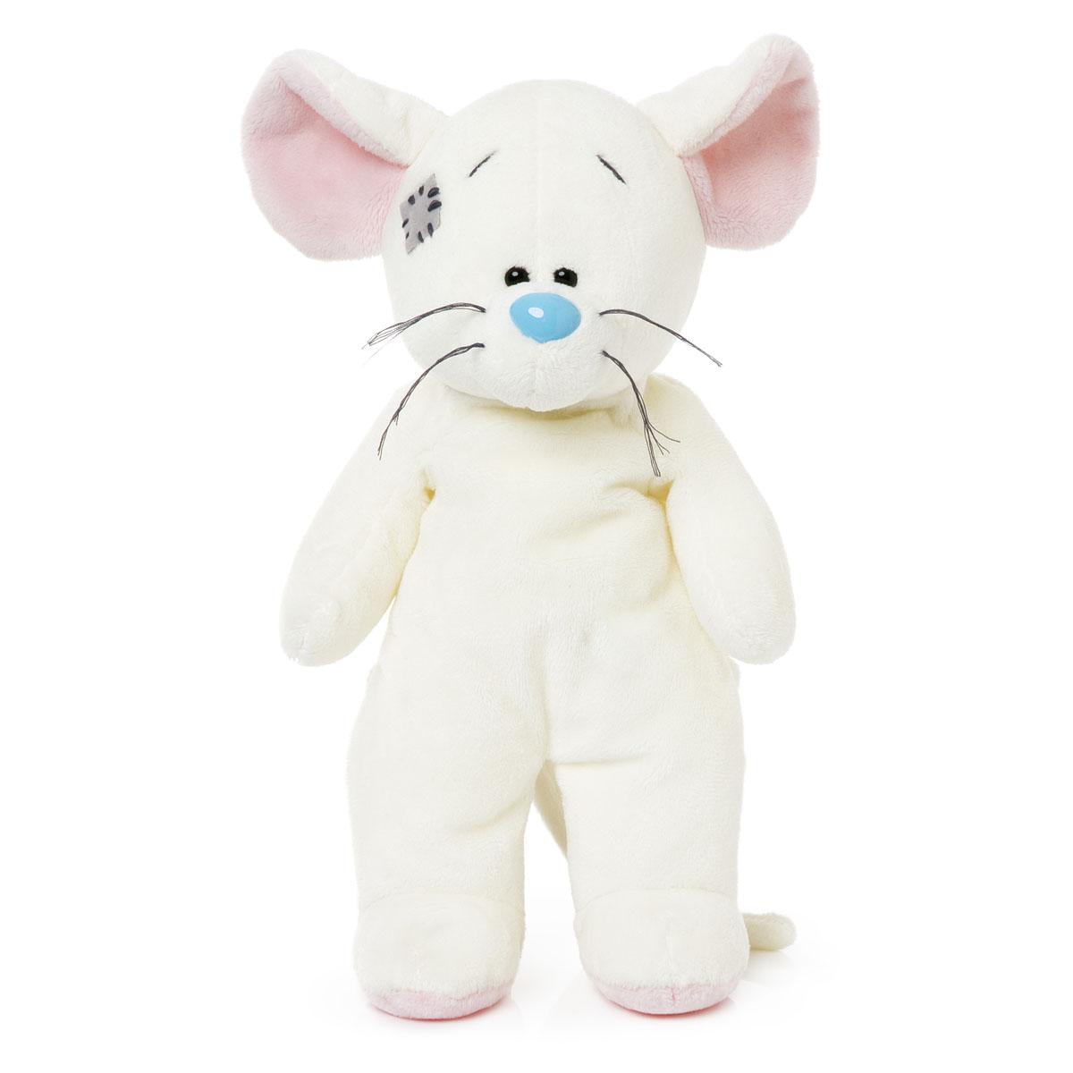 Me to You Мягкая игрушка Мышка Tiny, 28 смG73W0298Забавная мягкая игрушка Me to You Мышка Tiny станет лучшим другом для любого ребенка. Игрушка изготовлена из безопасных, приятных на ощупь текстильных материалов в виде мышки с милой заплаткой на голове. Глазки и нос игрушки выполнены из пластика. Пластиковые гранулы, используемые при набивке игрушки, способствуют развитию мелкой моторики рук ребенка. С такой забавной игрушкой можно смело засыпать в кроватке или отправляться на прогулку.