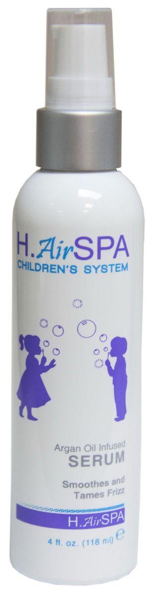 H.AirSpa Сыворотка детская разглаживающая, на масле арганы, 118 млHS-KSER-4Всего капля разглаживающей сыворотки добавит блеск волосам и уберет лишнюю пушистость детских волос, защитит от повреждений. Входящие в состав масла ши, арганы и алоэ питают волосы, делают их мягкими, хорошо поддающимися любым укладкам и прическам. Сыворотка придает волосам блеск и здоровый внешний вид. Можно применять на влажные или сухие волосы. Проверено дерматологами.
