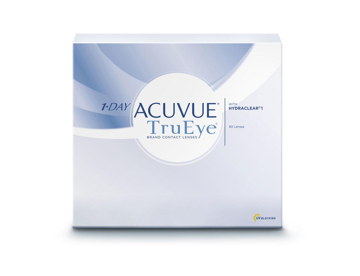 Johnson & Johnson Контактные линзы 1-Day Acuvue TruEye (90 шт. / 9.0 / + 2.25)39Контактные линзы 1-Day Acuvue TruEye - cенсационная новинка от всемирного лидера по производству контактных линз, компании Johnson&Johnson. Это революционная разработка компании за самые короткие сроки успела завоевать сердца миллионов людей по всему миру. Качество, надежность, комфорт - вот как можно описать новые 1-Day Acuvue TruEye. На сегодняшний день это единственные в мире однодневные силикон-гидрогелевые линзы. Они изготовлены из воздухопроницаемого материала нарафилкон А, благодаря которому удалось достичь потрясающих показателей по кислородопроницаемости. Коэффициент пропускания кислорода (Dk/t) равен 118. А применение технологии HYDRACLEAR® делает линзы ультрагладкими. Благодаря этому линзы 1-Day Acuvue TruEye совершенно не ощутимы на глазах. Кроме того, линзы 1-Day Acuvue TruEye обладают высшим уровнем защиты от УФ-излучения. Все эти характеристики делают их незаменимыми и непревзойденными помощниками в условиях агрессивной среды большого города. Появление этих...