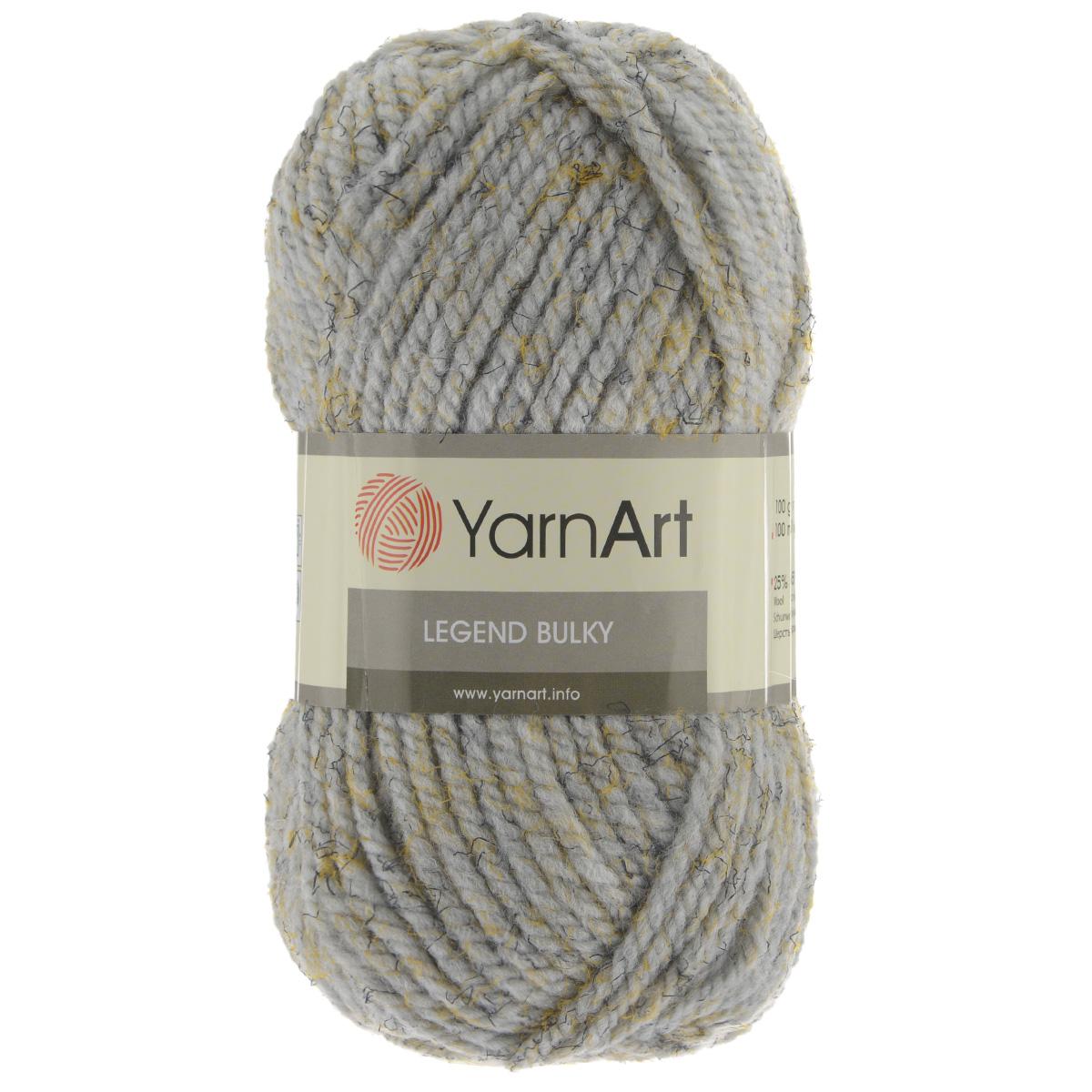 Пряжа для вязания YarnArt Legend Bulky, цвет: сиреневый, желтый, черный (8822), 100 м, 100 г, 5 шт пряжа для вязания yarnart baby color цвет белый черный 273 150 м 50 г 5 шт