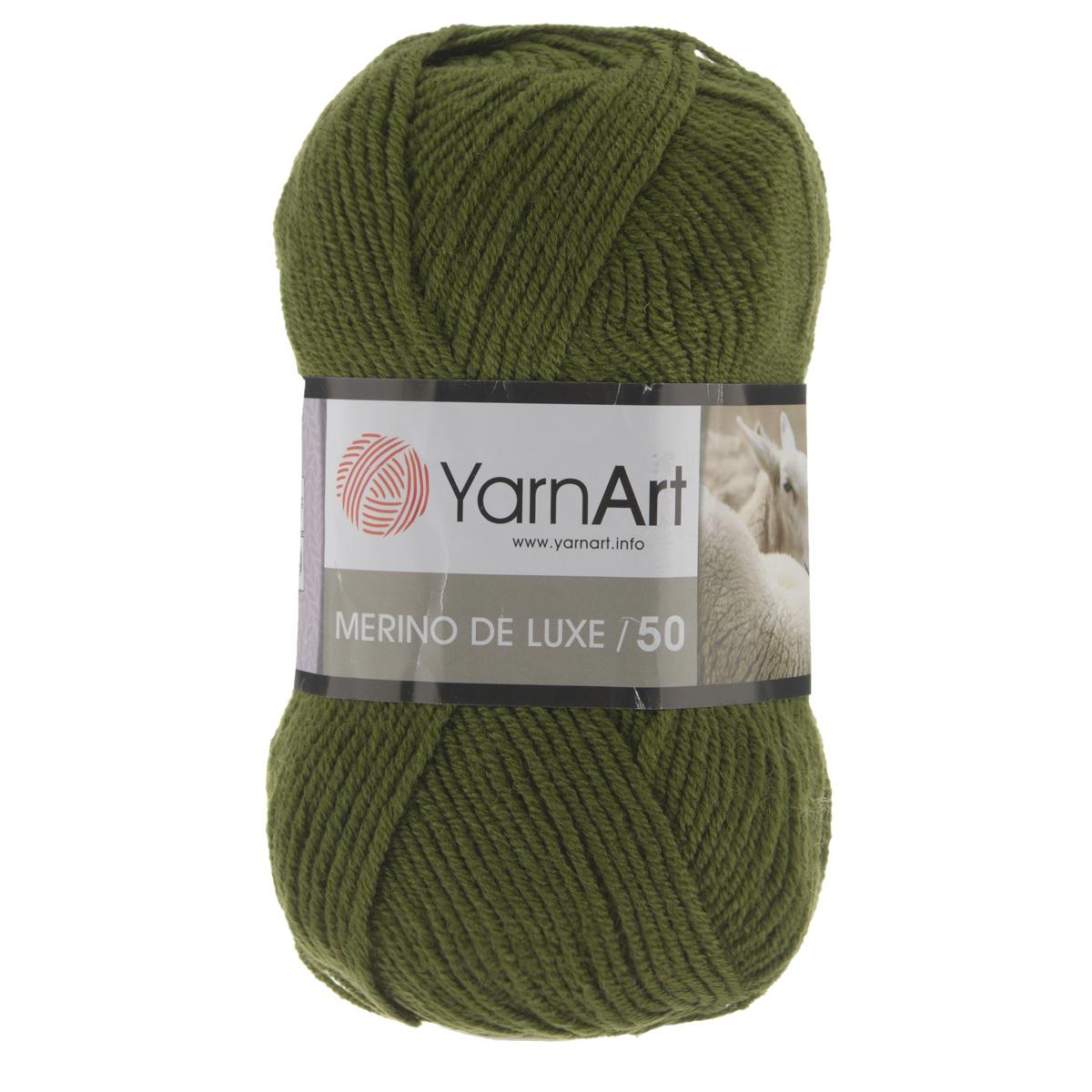 Пряжа для вязания YarnArt Merino de Lux, цвет: темно-оливковый (530), 280 м, 100 г, 5 шт372049_530Классическая пряжа для вязания YarnArt  Merino de Lux изготовлена из шерсти и акрила. Пряжа очень мягкая и приятная на ощупь. Теплая, уютная, эта пряжа идеально подходит для вязки демисезонных вещей. Шапочки, шарфы, снуды, свитера, жилеты вяжутся из этой пряжи быстро и легко. Изделия приятны в носке и долго не теряют форму после ручной стирки. Рекомендуются спицы 3,5 мм, крючок 4 мм. Состав: 49% шерсть, 51% акрил.
