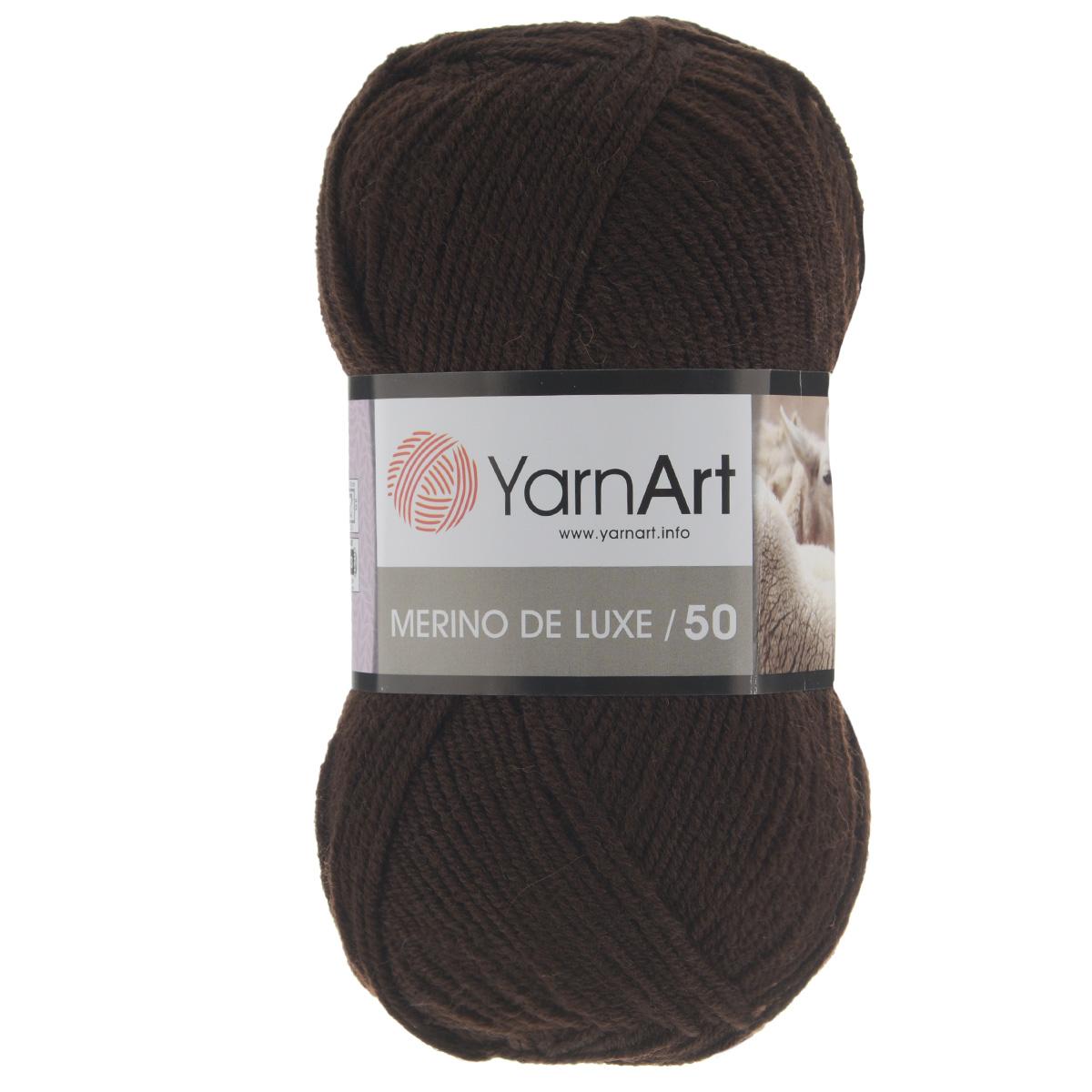 Пряжа для вязания YarnArt Merino de Lux, цвет: шоколад (116), 280 м, 100 г, 5 шт372049_116Классическая пряжа для вязания YarnArt  Merino de Lux изготовлена из шерсти и акрила. Пряжа очень мягкая и приятная на ощупь. Теплая, уютная, эта пряжа идеально подходит для вязки демисезонных вещей. Шапочки, шарфы, снуды, свитера, жилеты вяжутся из этой пряжи быстро и легко. Изделия приятны в носке и долго не теряют форму после ручной стирки. Рекомендуются спицы 3,5 мм, крючок 4 мм. Состав: 49% шерсть, 51% акрил.