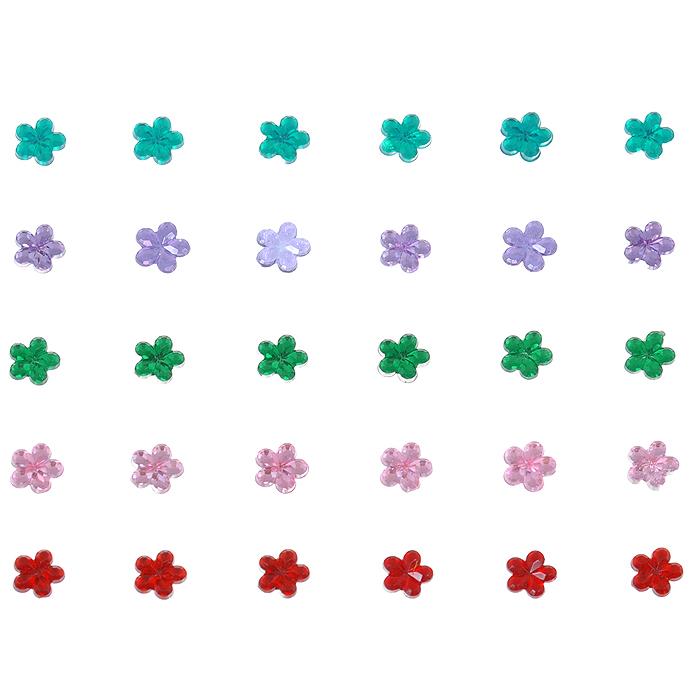 Стразы самоклеящиеся Home Queen Цветы, 5 мм, 30 шт68301Набор страз Home Queen Цветы, изготовленный из акрила, позволит вам украсить открытку, бижутерию, подарочную коробку, фотоальбом, а также элементы одежды. Стразы оригинального и яркого дизайна круглой формы фиксируются при помощи специальной клейкой основы. Украшение стразами поможет сделать любую вещь оригинальной и неповторимой. Диаметр: 5 мм. Комплектация: 30 шт.