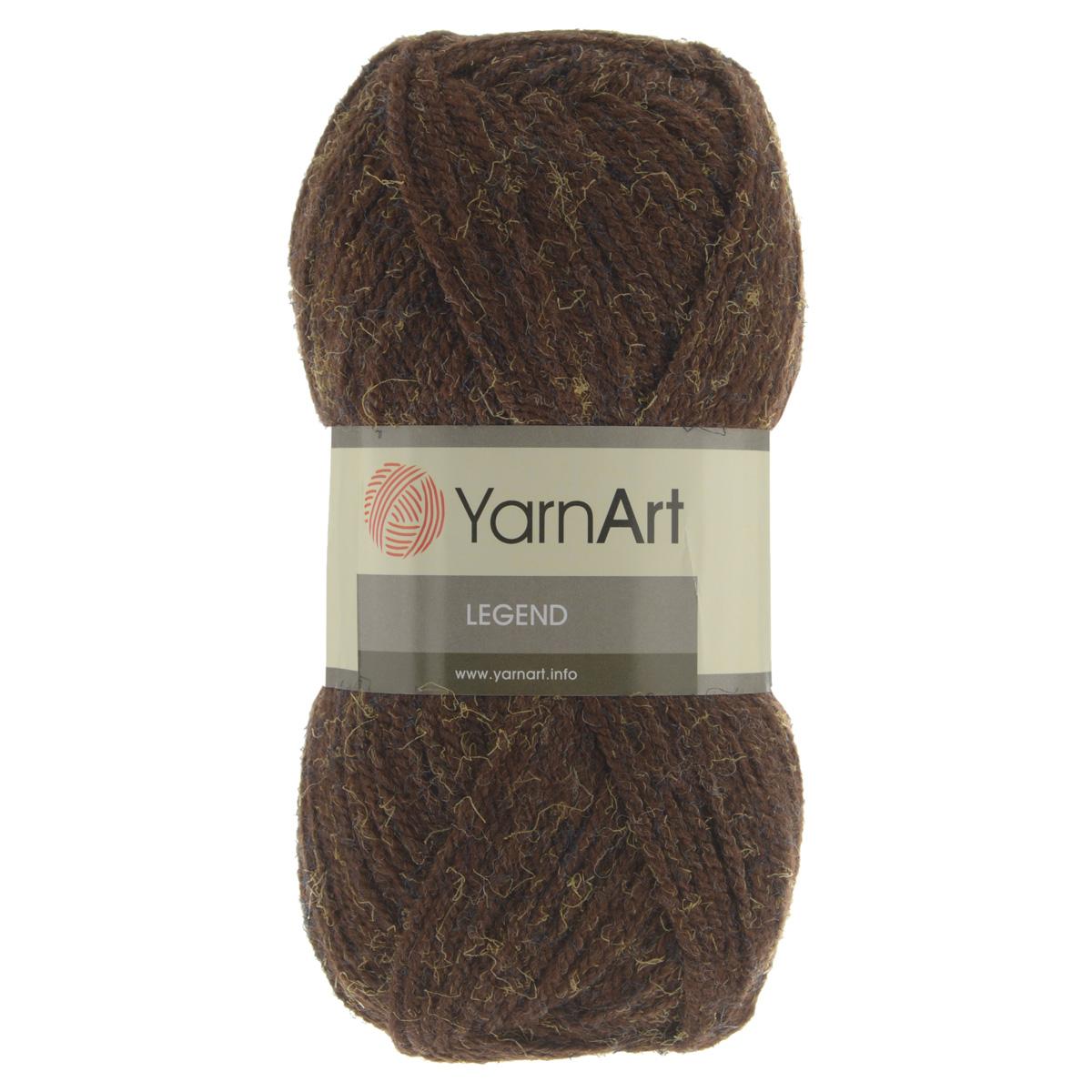 Пряжа для вязания YarnArt Legend, цвет: коричневый, желтый (220028), 300 м, 100 г, 5 шт пряжа для вязания yarnart baby color цвет белый черный 273 150 м 50 г 5 шт