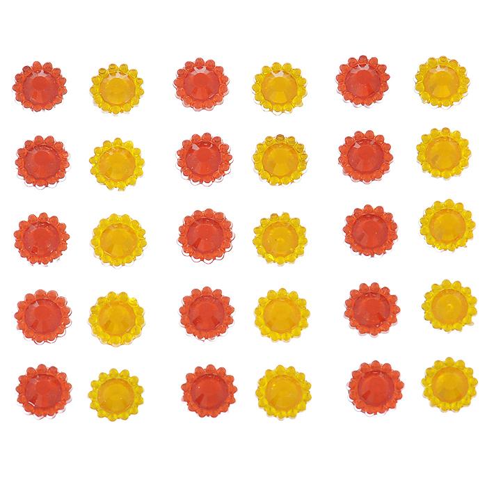 Стразы самоклеящиеся Home Queen Каменный цветок, цвет: красный, желтый, 1 см, 30 шт68305_1Набор страз Home Queen Каменный цветок, изготовленный из акрила, позволит вам украсить открытку, бижутерию, подарочную коробку, фотоальбом, а также элементы одежды. Стразы оригинального и яркого дизайна круглой формы фиксируются при помощи специальной клейкой основы. Украшение стразами поможет сделать любую вещь оригинальной и неповторимой. Диаметр: 1 см. Комплектация: 30 шт