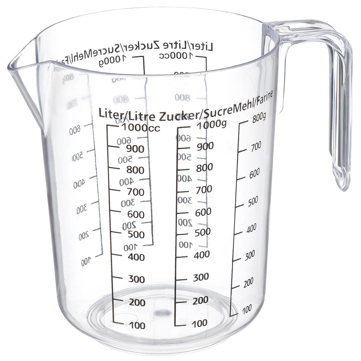 Кувшин мерный Fackelmann, 1 л42401Мерный прозрачный кувшин пригодится на каждой кухне, ведь зачастую приготовление некоторых блюд требует известной точности. Данный кувшин позволяет мерить жидкости до 1 литра, сахар и разные сыпучие продукты. Кувшин можно использовать как чашу для взбивания продуктов. Можно использовать в посудомоечной машине. Объем кувшина: 1 л. Высота кувшина: 15 см. Диаметр кувшина (по верхнему краю): 12 см.