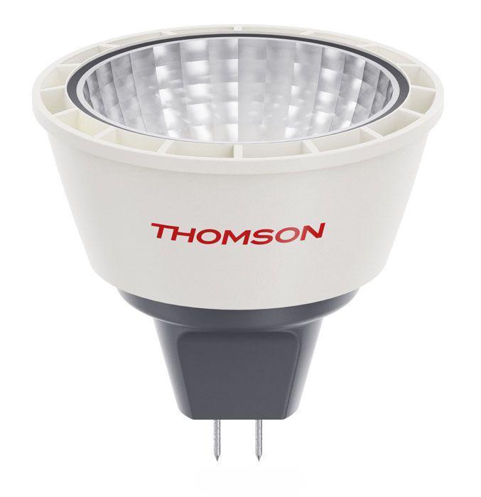 Лампа LED Thomson TL-MR16С-5W12V GU5.3, 100-240V, 5000K, 5W, 400 ЛюменTL-MR16C-5W12VСветодиодная лампа Thomson TL-MR16С-5W12V нового поколения потребляет в 10 раз меньше энергии, чем обычная лампа накаливания при этом свет ее точно такой же комфортный, как у обычной лампочки Напряжение: 12 вольт